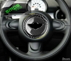 Mini-Carbon-Fiber-Steering-Wheel-center-R55-R56-R57-R58-R59-R60-R61-Cooper-S-JCW