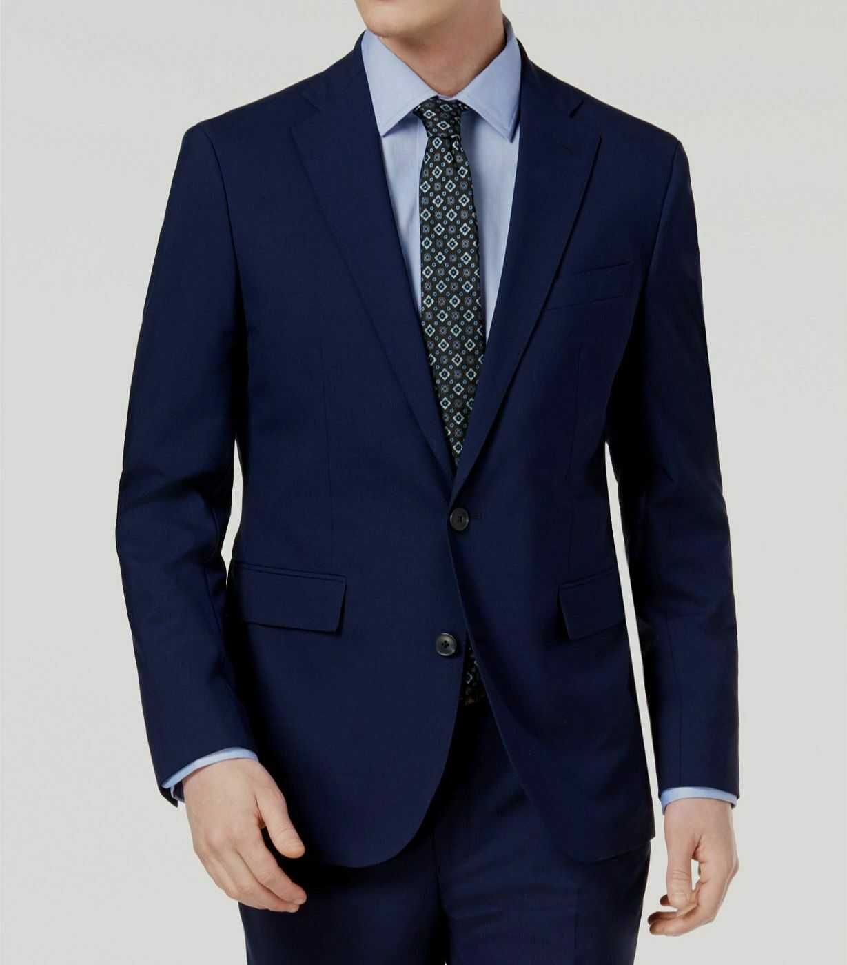 Cole Haan Mens Slim Fit Stretch Suit Separates-Custom Jacket /& Pant Size Selection 40S Blue Windowpane