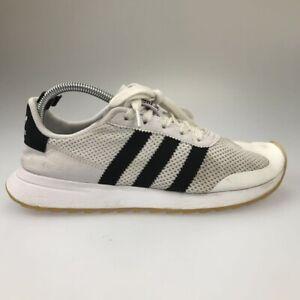 Prueba de Derbeville Emigrar instructor  Adidas Womens Flashrunner Shoes White Black BA7760 Breathable Lace Up Low  Top 10   eBay
