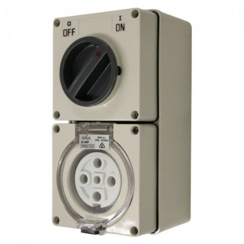 5 Pin 32 Amp Industrial Weatherproof Combination Switch