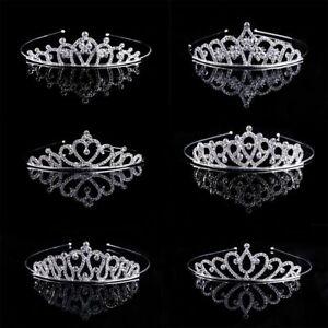 Women-Fashion-Crystal-Rhinestone-Tiaras-Crown-Bridal-Wedding-Headband