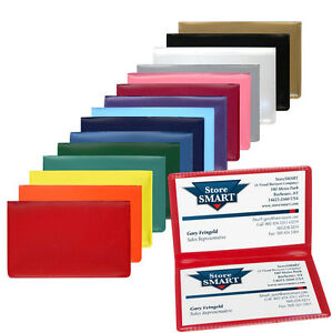 Storesmart folding business card card holders rpp2915 10 pack ebay image is loading storesmart folding business card card holders rpp2915 10 colourmoves