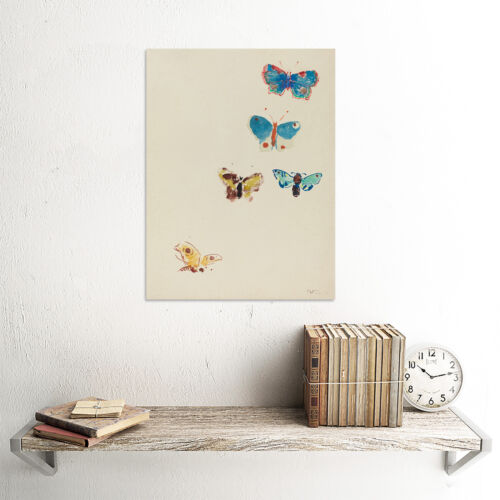 ODILON REDON FRENCH FIVE BUTTERFLIES OLD ART PAINTING POSTER PRINT BB6209B