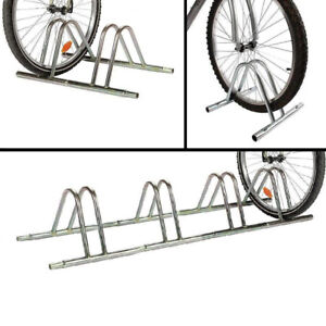 PedalPro 3 Bike Galvanized Floor//Wall Mounted Bicycle Storage Rack