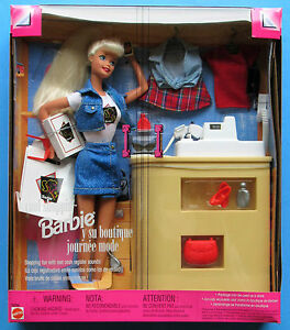 Mattel Cool Shopping Barbie Play Set 1997 with Outfits and Accessories