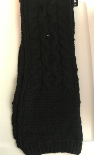 JOE BOXER Women/'s Cable Knit Scarf Brand NEW Black or Ivory