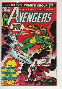 AVENGERS-116-F-VF-7-0-Marvel-1973-AVENGERS-verse-DEFENDERS