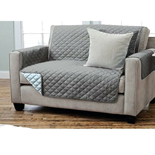 Fauteuil de veille fauteuil protection sofaüberwurf 2 places 191x224 cm couleur ANTH//gris clair