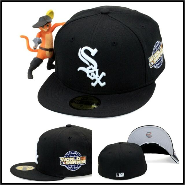 New Era 59fifty Chicago White Sox Fitted Hat 2005 World Series Side Patch  MLB 251ecb2a26