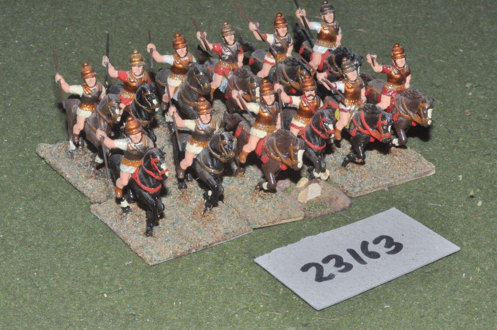 25mm classical   greek - heavy 12 figures - cav (23163)