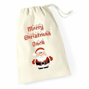 Personalizzata-Buon-Natale-Babbo-Natale-Sacco-Babbo-Natale-ABBRACCIO-Natale-Regalo-Calza