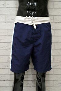 Costume-SUNDEK-Uomo-Taglia-54-Mare-Piscina-Bagno-Shorts-Pantaloncino-Corto-Blu