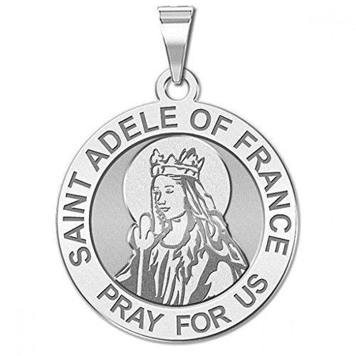 Saint ADELE DE FRANCE TOUR religieux médaille 3//4 pouces Taille de nickel-STERL