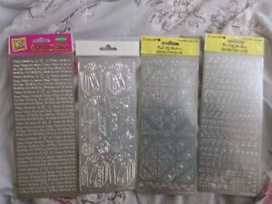Silver Anitas Straight Line Borders Outline Stickers