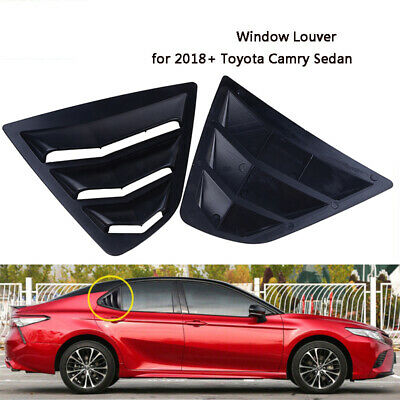 2x Side Vent Window Scoop Louver Cover Trim For Toyota Camry 2018 Gloss Black
