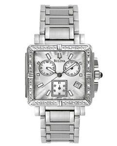 Bulova-Women-039-s-Quartz-Diamond-Accents-Chronograph-Multi-Dial-29mm-Watch-96R000