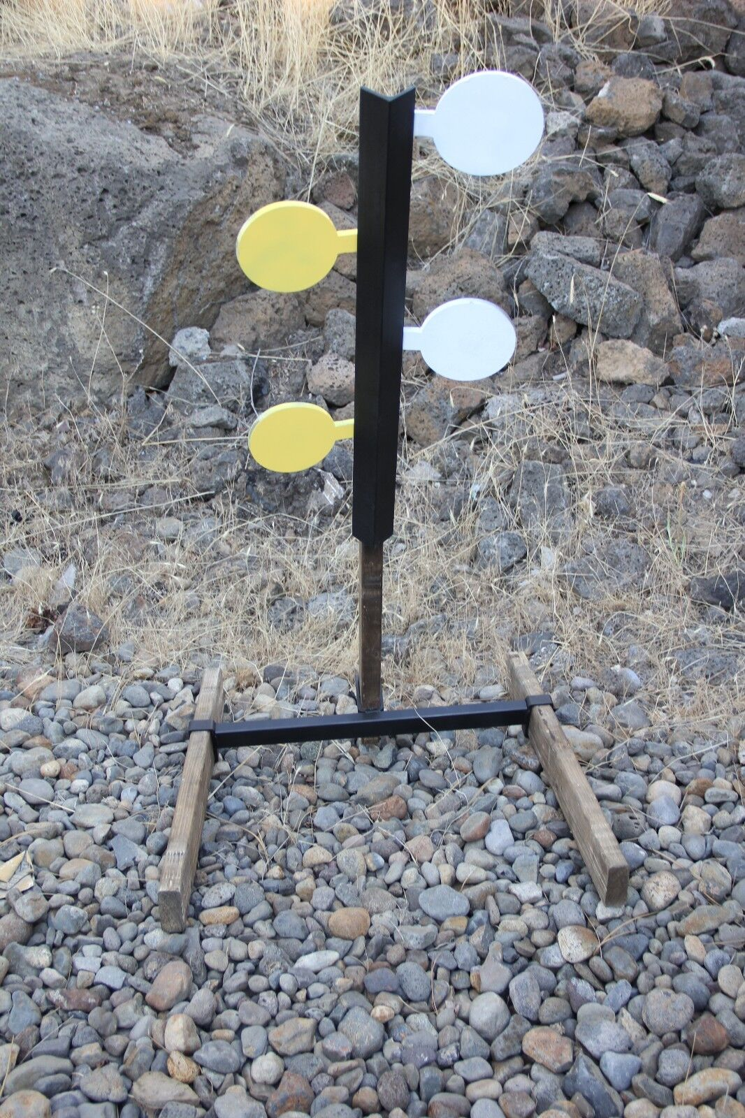 Dueling Tree AR500 Steel Four 5.5  Paddles Target Set (Base Included)