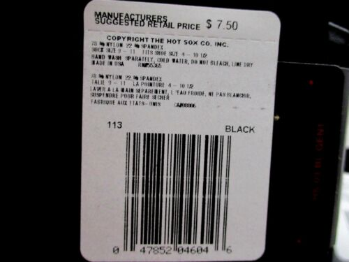 12 Pairs HOT SOX Black KNEE HIGH Socks SIZE 9-11 New Nylon Spandex 1 DOZEN