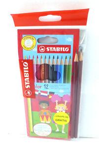 Stabilo-12-Stueck-Farbstifte-plus-2-Bleistifte-HB-Gratis-Brilliante-Farben