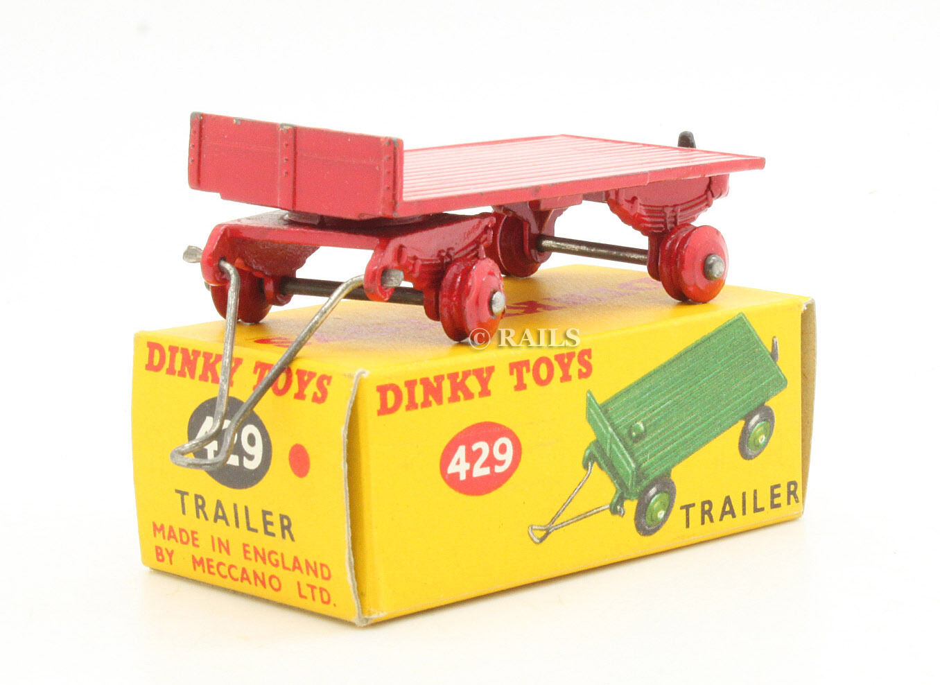 DINKY TOYS 429 RED TRAILER RARE