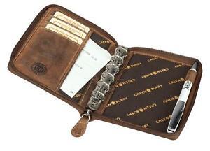 Greenburry-Organizer-Vintage-Leder-Terminplaner-A6-I-Organizer-I-Leder-Notizbuch