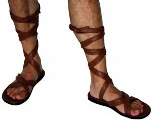 timeless design 9ab05 6a8d6 Dettagli su Sandali caligae romani scarpe romane soldato con stringhe lacci  cavigliere