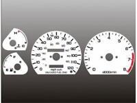 1985-1987 Honda Civic Crx Dash Cluster White Face Gauges 85-87
