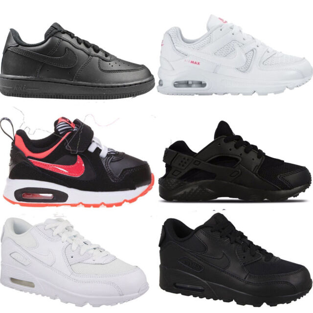 newest b89a8 9796b Infants Toddlers Kids Baby Leather Nike Air Max TD Trainers Sports Shoes  Sizes