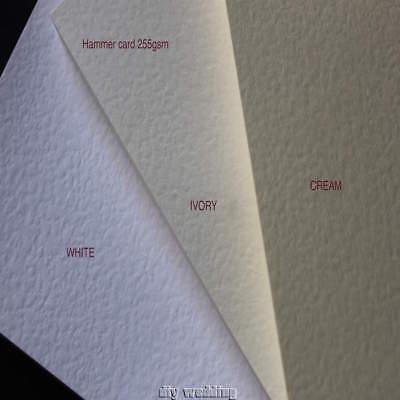 Entusiasta 50 A4 Fogli Di Martellato Scheda (avorio, Crema O Bianco) 250gsm Stampabile Cartoncino-mostra Il Titolo Originale