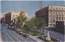 1956 postcard - Looking East on Myrtle Avenue, El Paso, Texas