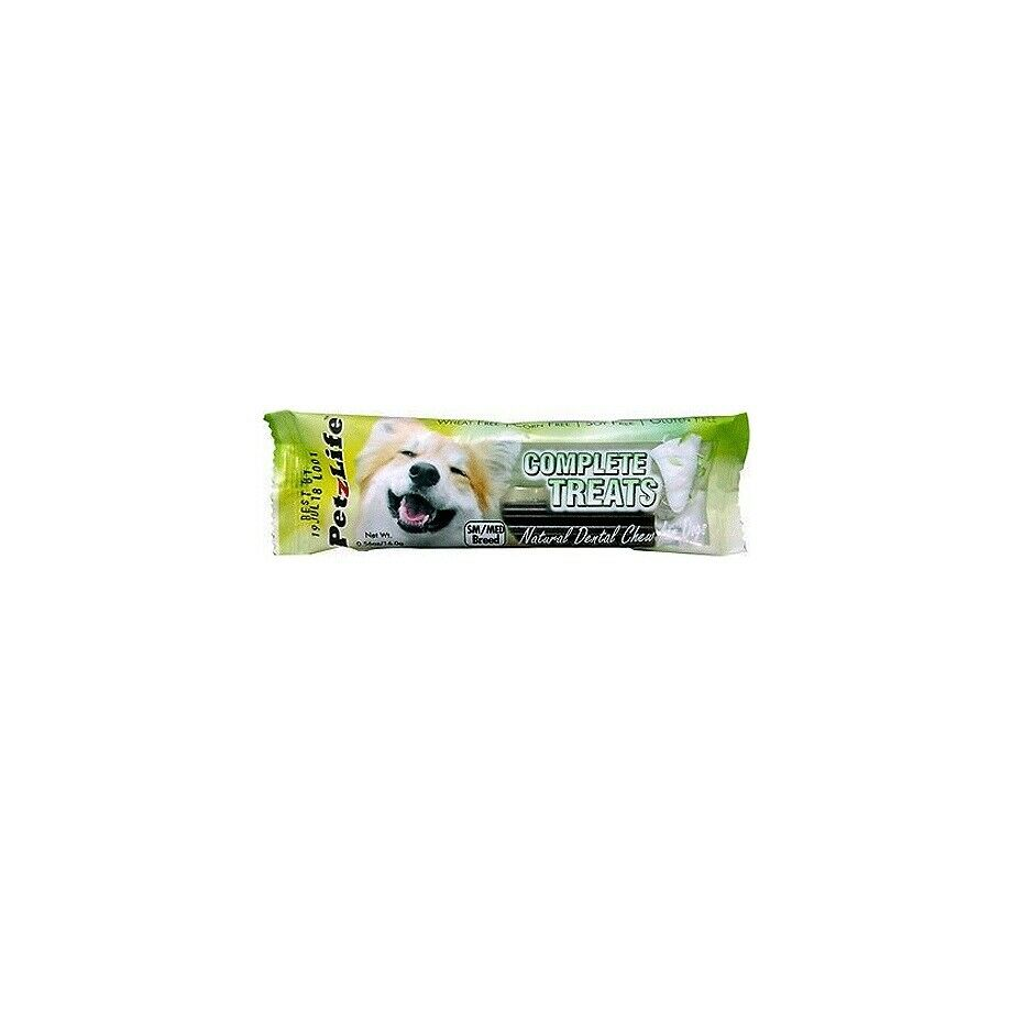 Complete Treats Natural Dental Chews for Dogs SMedium 40 pk