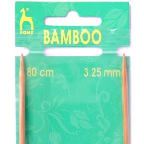 Pony 80cm Bamboo Circular Knitting Pins Needles Sewing