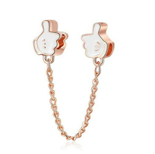 Fashion European Safety chain Thumb Charm Spacer Beads Fit Necklace Bracelet !!