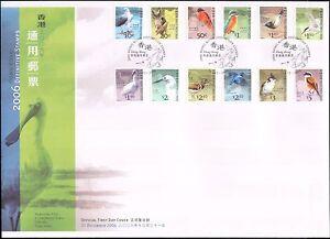 Hong-Kong-2006-Gufo-Kingfisher-Eagle-AIRONE-Birds-NATURA-12v-Set-SU-FDC-n16947a
