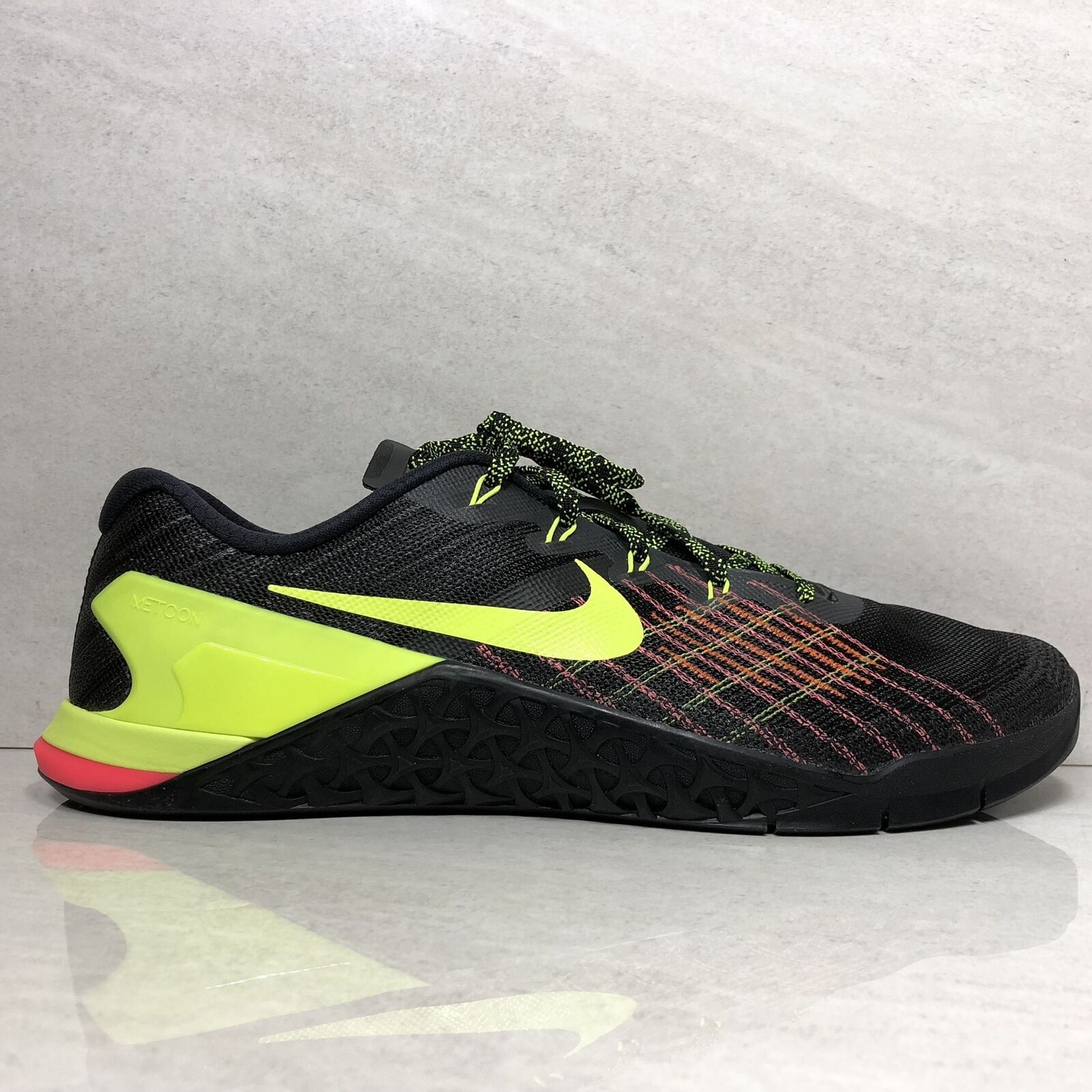 Nike Men's Metcon 3 Training Shoe Men's Size 14 BLACK/VOLT-HYPER CRIM