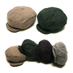 Unisex-Mens-Boys-Tweed-Wired-Visor-Baker-Boy-Cabbie-Gatsby-Flat-Cap-Newsboy-Hats