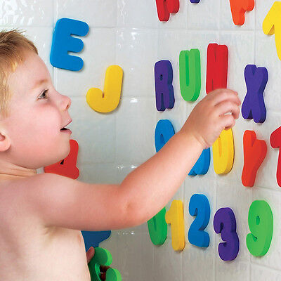Bath Tub Foam Letters Numbers set 36pcs Children Learning Toy educational
