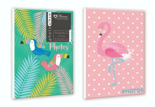 "Twin Pack Birds /& Flamingo Design Mini Pocket Photo Album 4 x 6/"" Size 24 Photo"