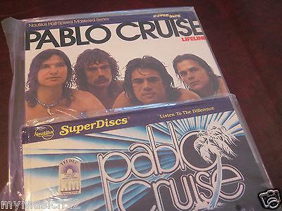 PABLO CRUISE LIFELINE & WORLDS AWAY NAUTILUS SUPERDISC Sealed RARE 1/2 SPEED LP