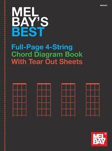 Mel-Bay-Full-Page-4-String-Chord-Diagram-Banjo-Mandolin-Ukulele-UKE-Music-Book