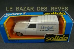 SOLIDO-FRANCE-Serie-limitee-RENAULT-4-034-PROJET-034-Boite-REF-42