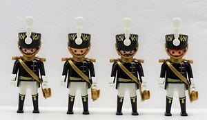 4 x PREUSSEN SOLDATEN Napoleon RAR !! OFFIZIER Playmobil /> Garde Kreuzgurt vs