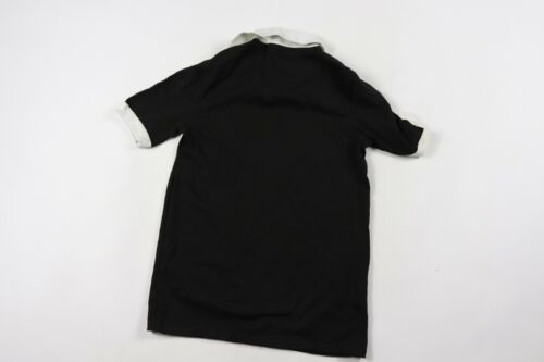 Vtg 70s New Merrygarden Youth Large Short Sleeve Collared Soccer Jersey Black