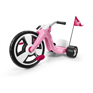 Girls-Trike-Radio-Flyer-Big-Wheels-Pink-Tricycle-Toddler-Outdoor-Ride-On-Toy-New
