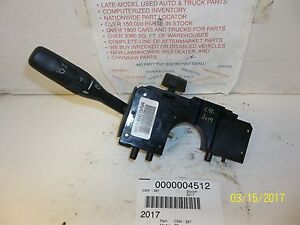 Image Is Loading 2001 Chrysler Pt Cruiser Headlamp Turn Signal Switch