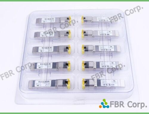 Lot 10 Brocade 33002-100 RJ-45 Avago ABCU-5730RZ-BR4 1000BASE-TX SFP Transceiver