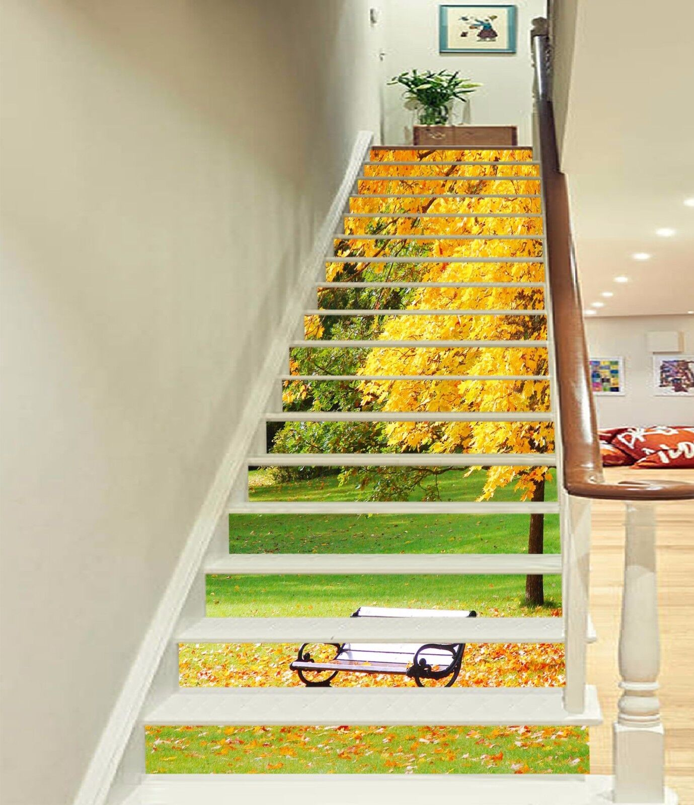 3D Fall Landscape 83Stair Risers Decoration Photo Mural Vinyl Decal Wallpaper AU