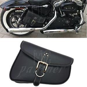 23e3cb8178f3 PU Leather Right side Saddlebag Saddle Bag For Harley Sportster Iron ...