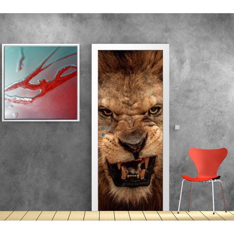 Aufkleber Tür Deko Löwe 821