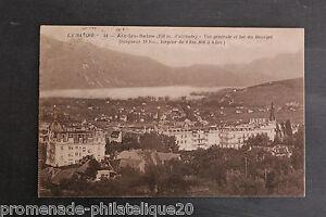 Tarjeta-Postal-Antigua-Aix-Los-Bains-258m-De-039-Alt-Vista-General-Y-Lago